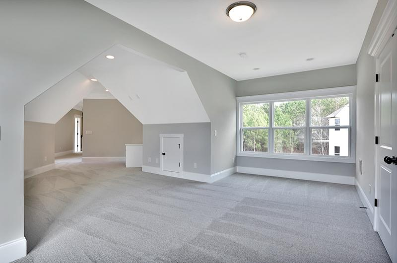 Attic bonus rooms photo gallery by chris gibson homes for Cost to finish bonus room over garage